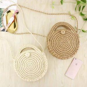 🆕Straw Circle Beach Handbag Bohemian Rattan
